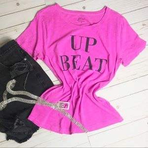 J.CREW- Pink Graphic Short Sleeve Tee Shirt